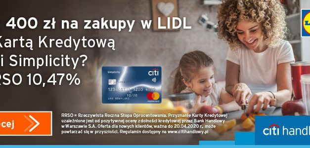400zł do Lidla od banku za darmową kartę kredytową